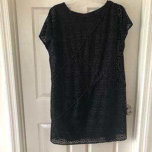 Adriana Papell lace black dress 14w
